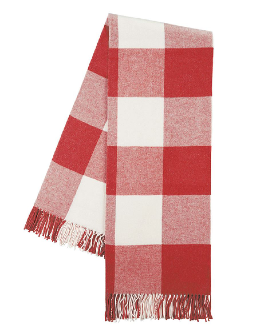 Buffalo Check Throw in Red Poppy at Fig Linens