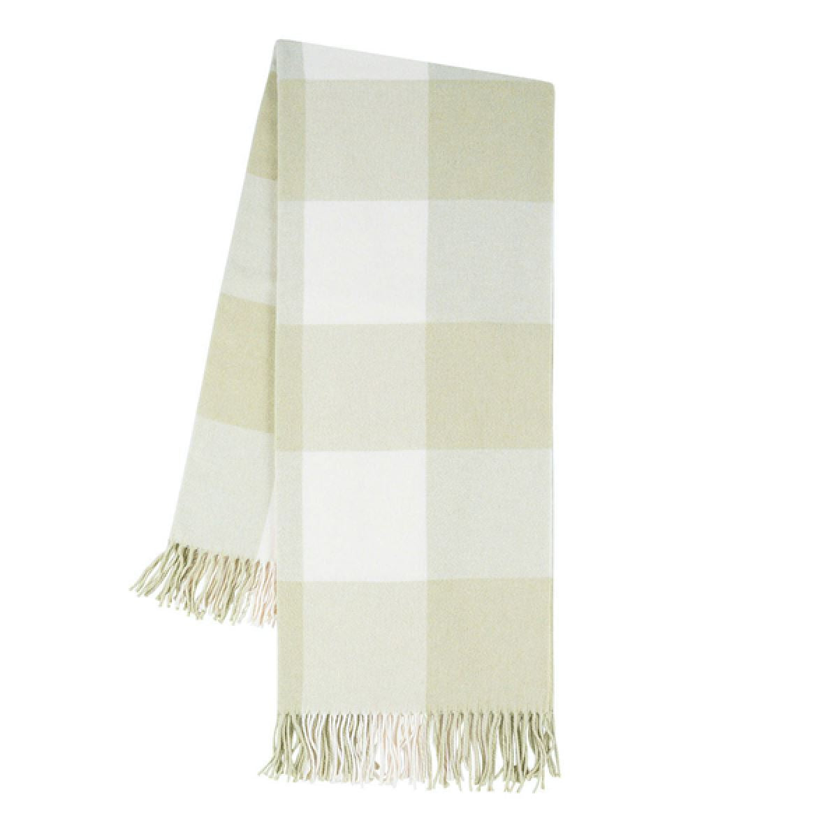Buffalo Check Throw in Sage at Fig Linens