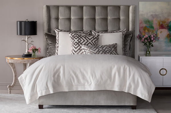Laurie Ivory Basketweave Duvet by Lili Alessandra
