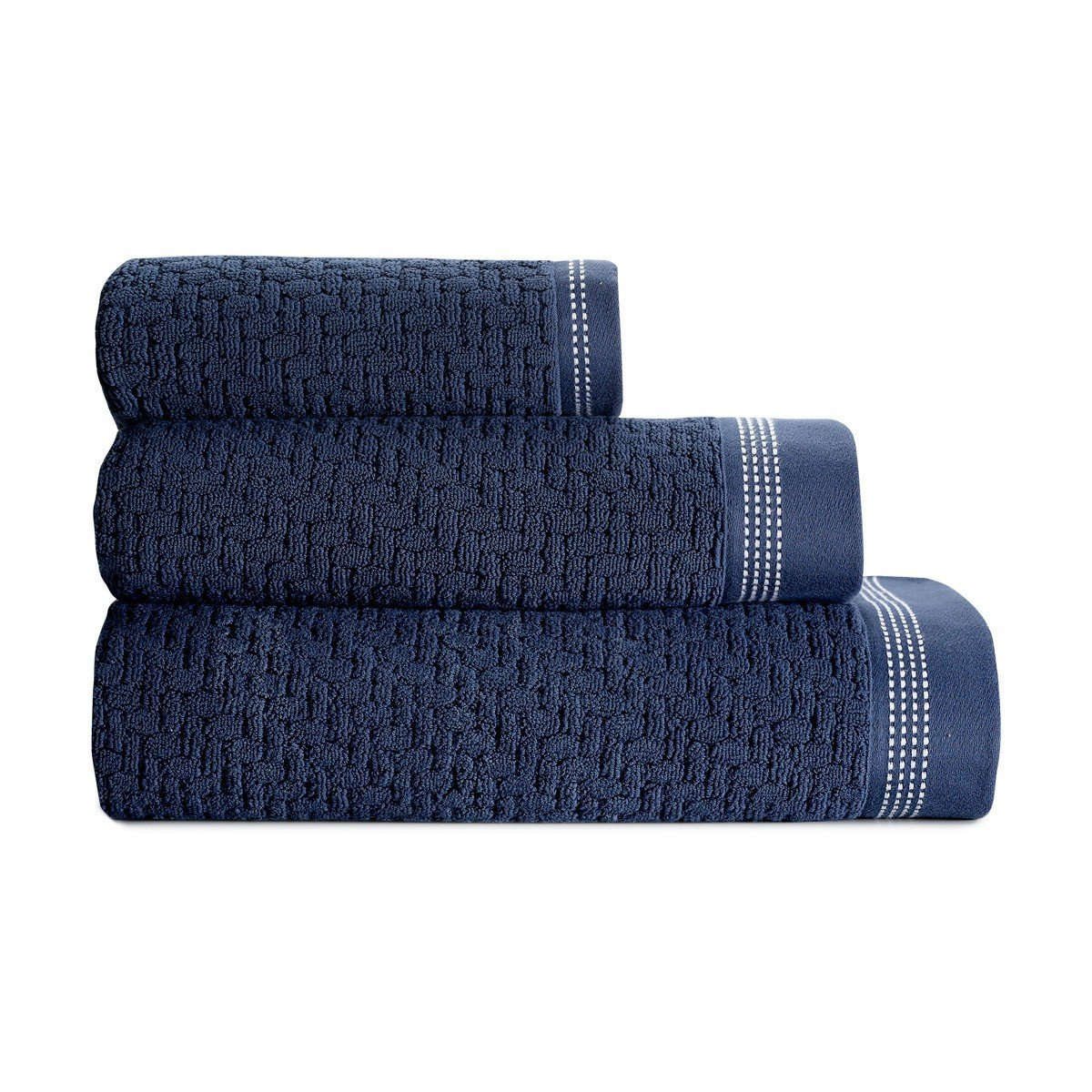 Le Jacquard Français | Couture Ocean Bath Collection | Fig Linens - Navy Blue Towels