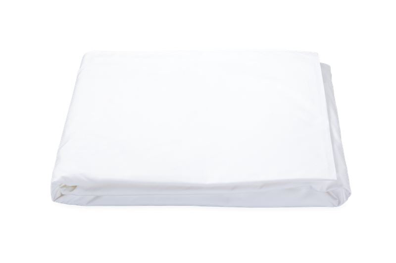 Matouk Liana Percale - Ceylon 520 Thread Count White Fitted Sheet