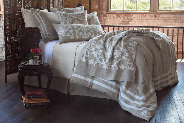Angie Natural Linen Bedding - Lili Alessandra at Fig Linens