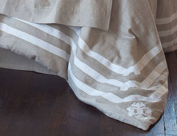 Angie Natural Linen Duvet Detail - Lili Alessandra at Fig Linens
