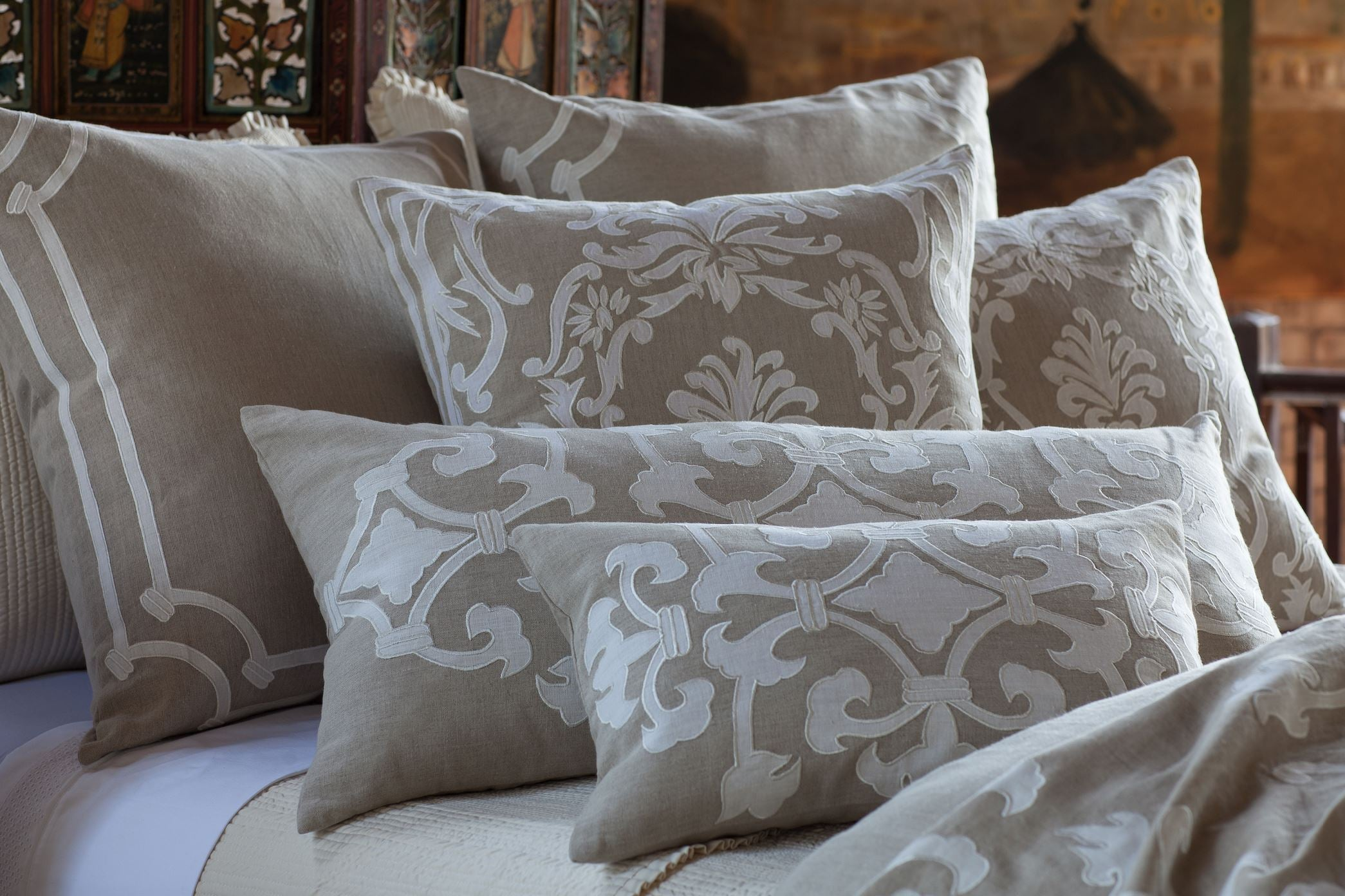 Angie Natural Linen Pillows Grouping - Lili Alessandra