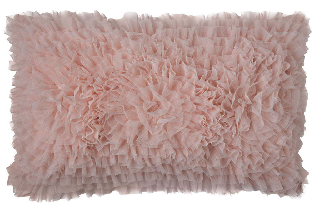 Lili Alessandra Coco Blush Sheer Small Rectangle Pillow