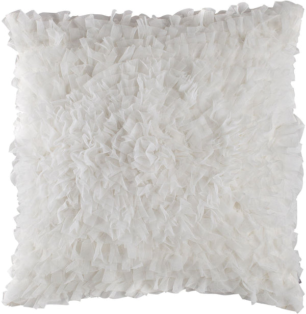 Lili Alessandra Coco White Sheer Square Pillow