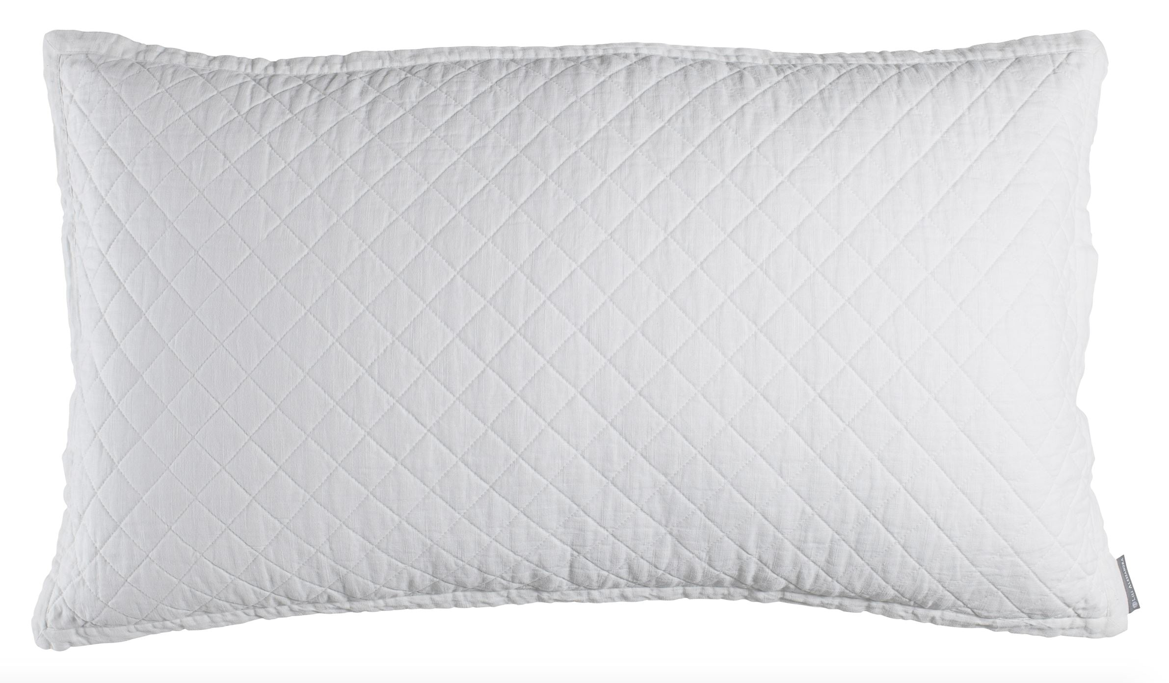 Lili Alessandra Emily White King Pillow
