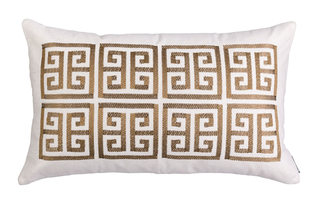 Guy Gold Rectangle Border Pillow by Lili Alessandra