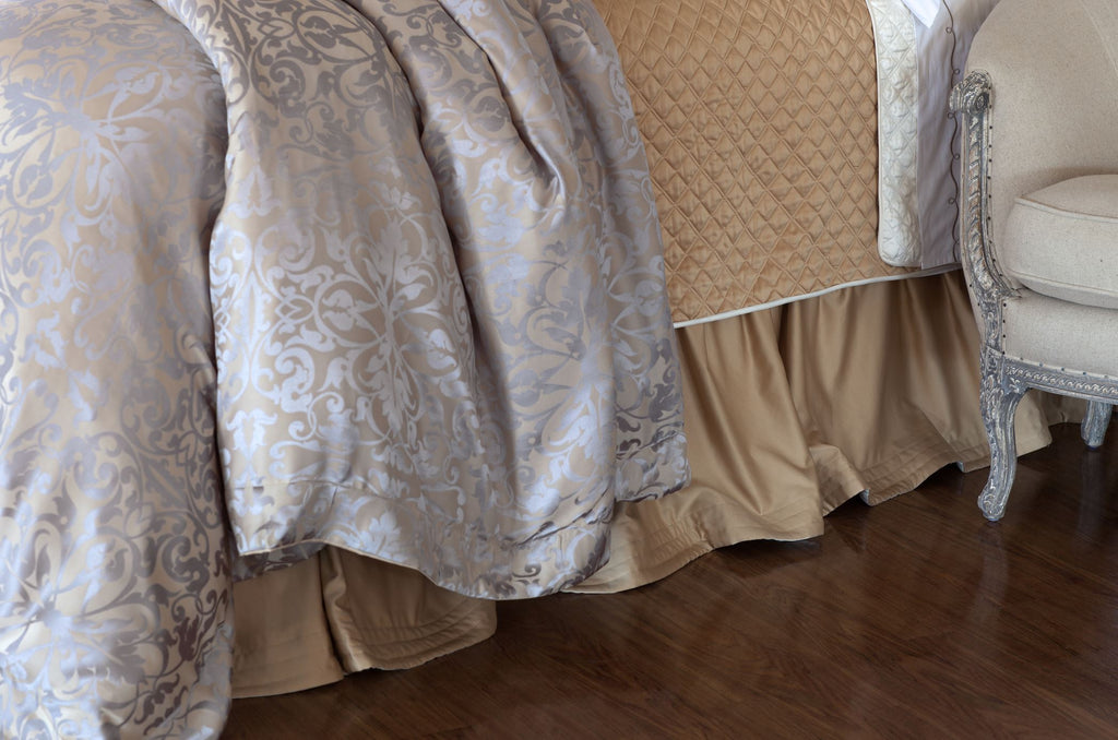 Silk & Sensibility Ivory and Ecru - Lili Alessandra Bedskirt at Fig Linens