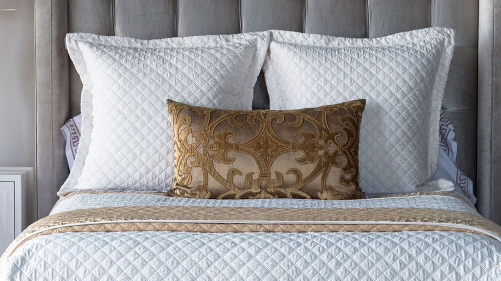 Silk & Sensibility Ivory and Ecru Quilted Coverlets - Lili Alessandra at Fig Linens