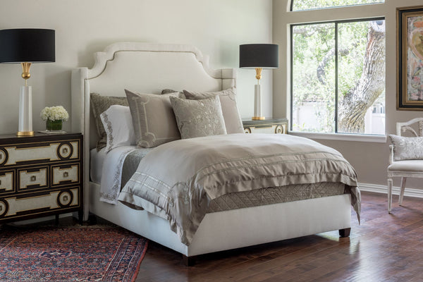Lili Alessandra Vendome Taupe Duvets and Pillows at Fig Linens