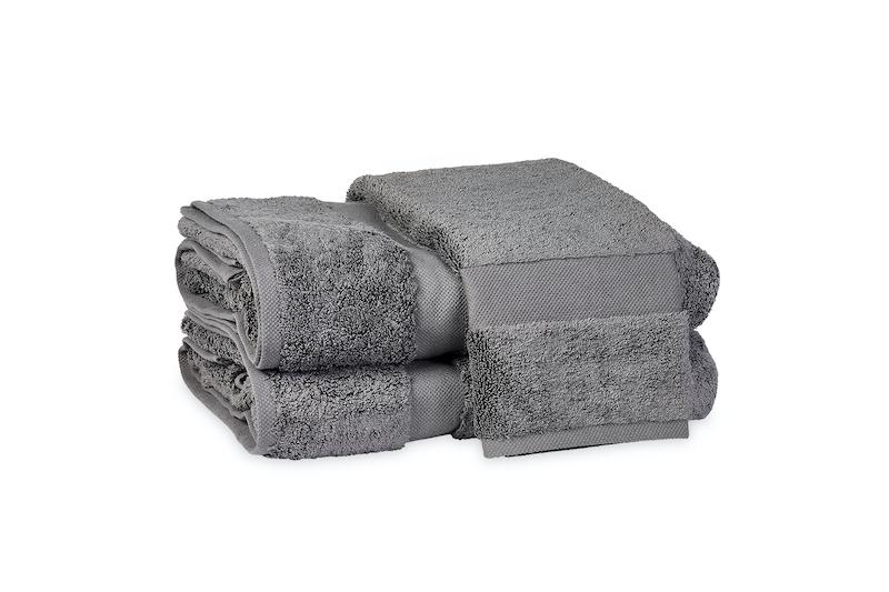 Matouk Lotus Charcoal Bath Towels at Fig Linens