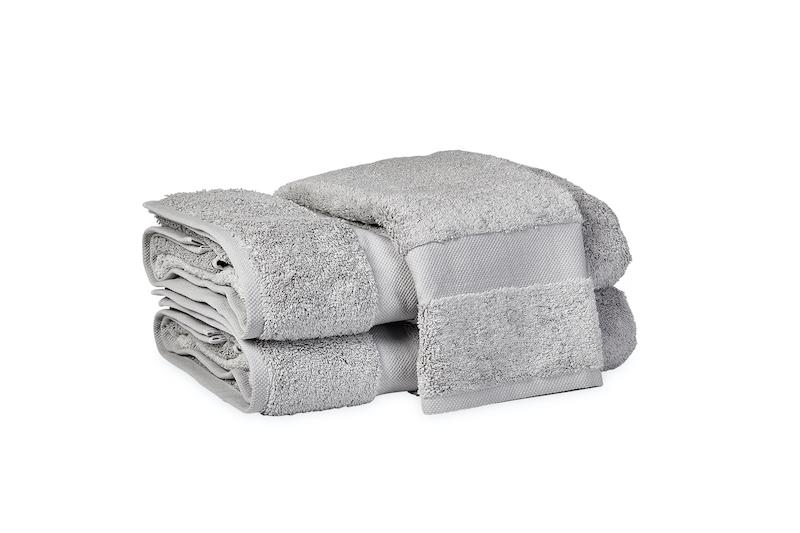 Matouk Lotus Smoke Bath Towels at Fig Linens