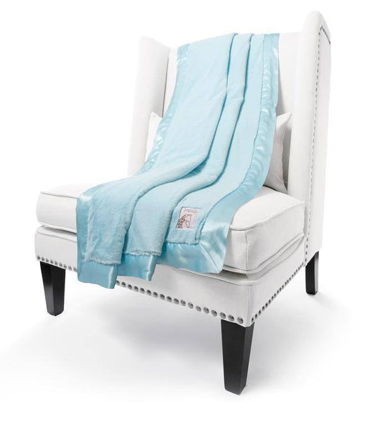 aqua luxe throw - little giraffe
