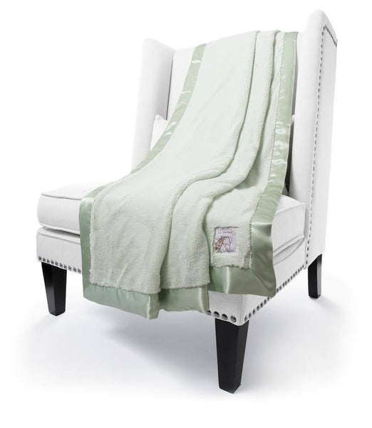 Celadon luxe throw by little giraffe