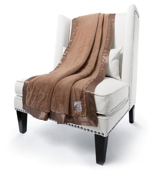 mocha luxe throw - little giraffe