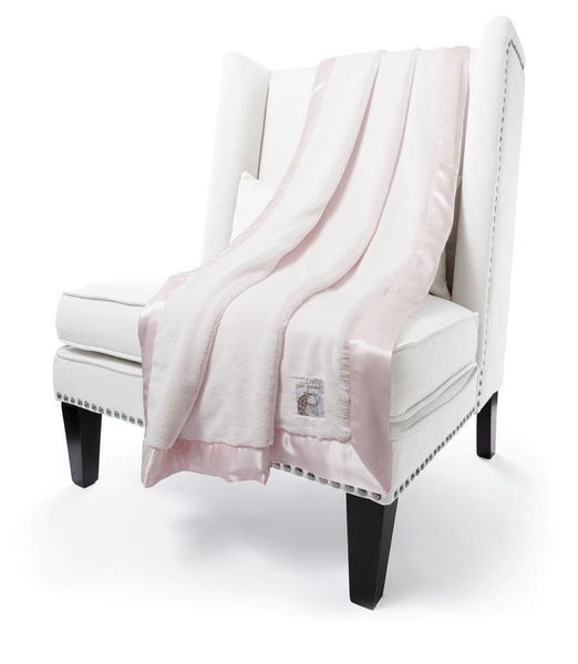 pink luxe throw by little giraffe