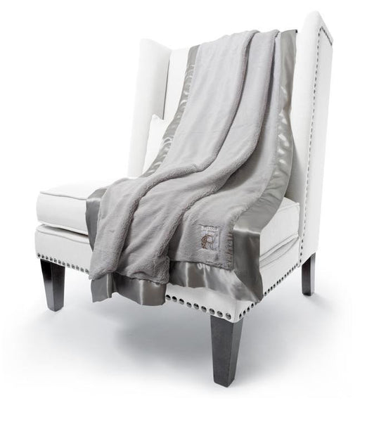 silver luxe throw by little giraffe