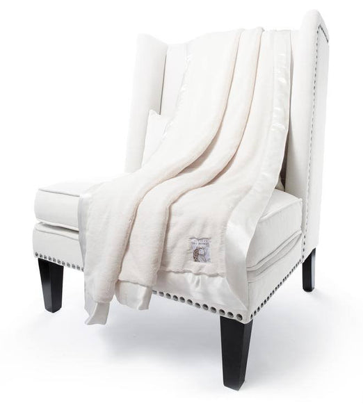 white luxe throw by little giraffe