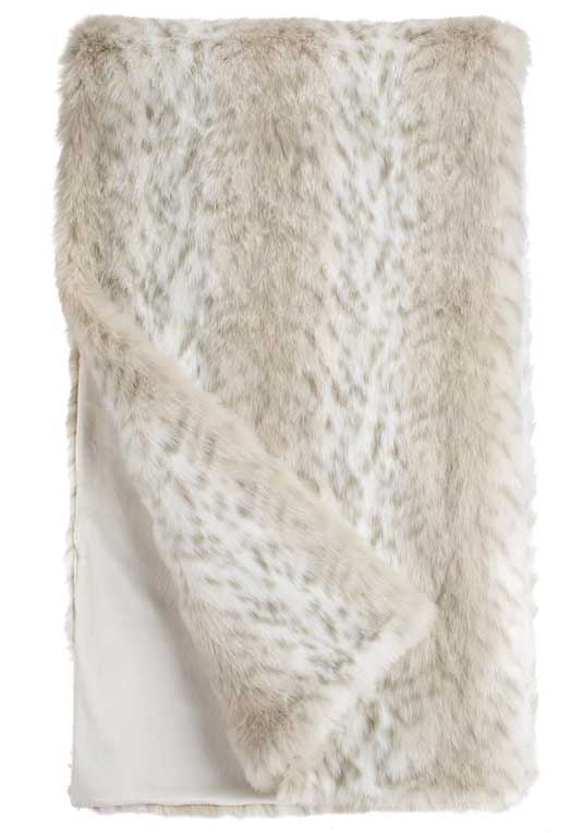 Lynx Limited Edition Faux Fur Throw Blanket by Fabulous Furs