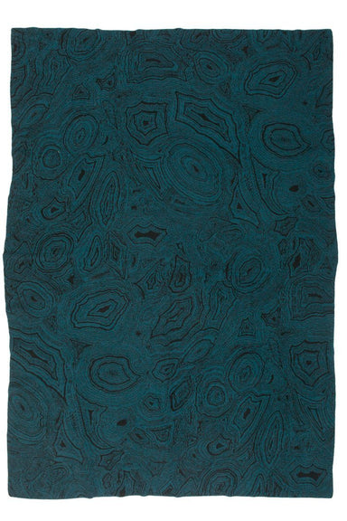 Malachite Teal Cashmere Throw - Saved at Fig Linens