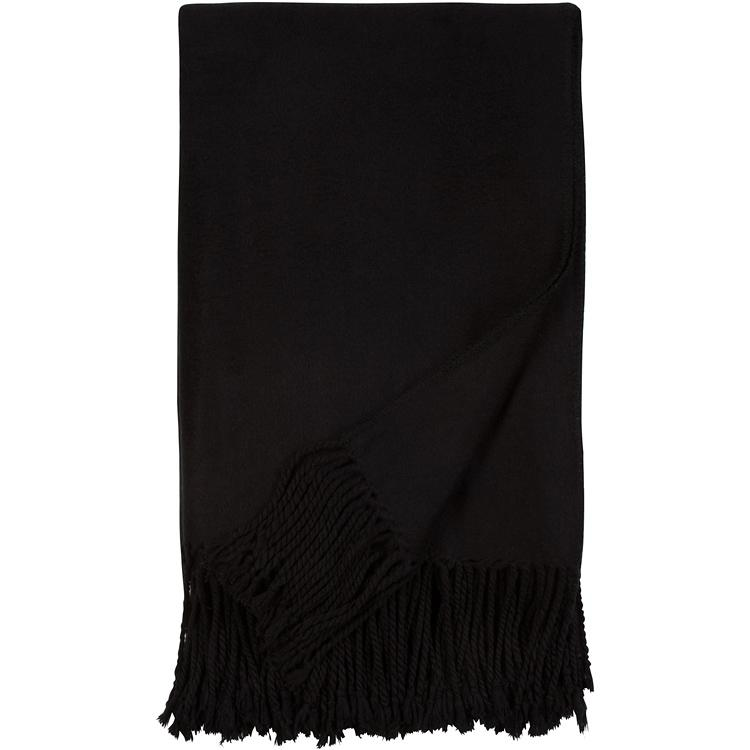Luxxe Fringe Throw in Black