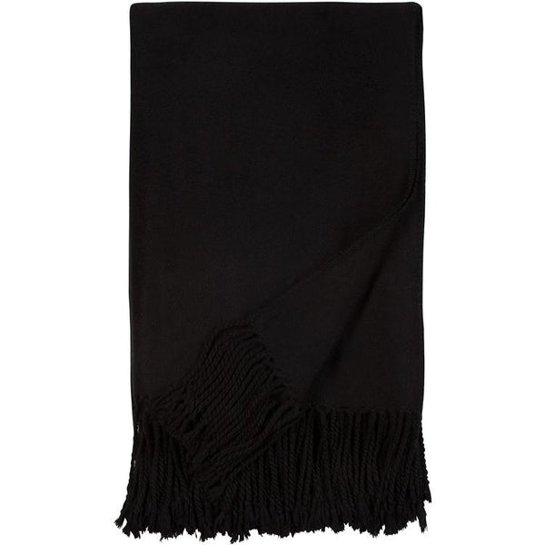 Luxxe Fringe Throw in Black Malibu Luxxe