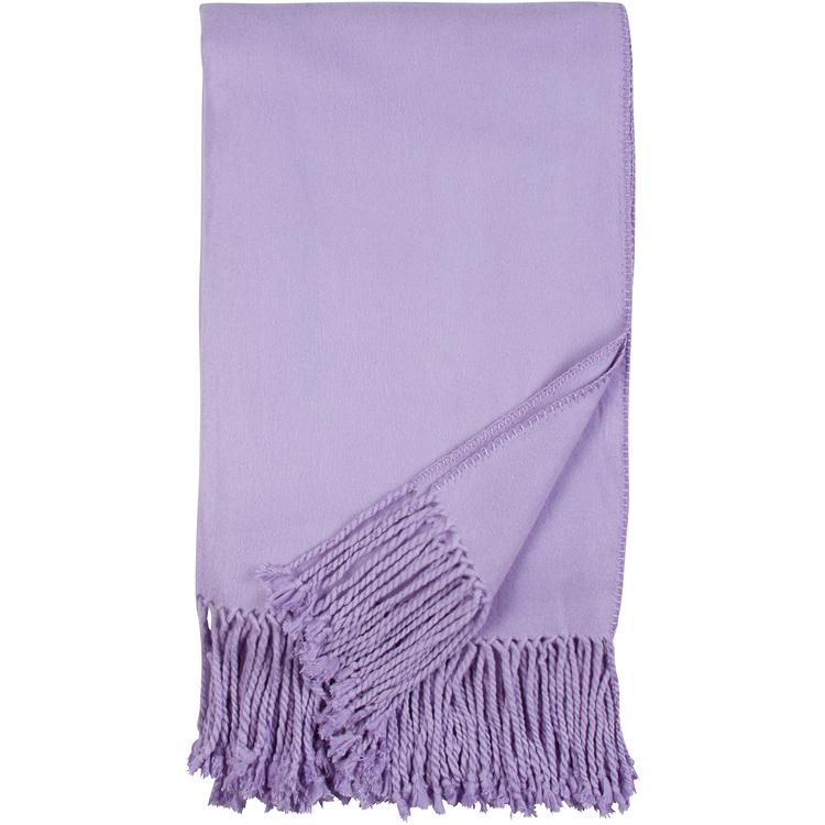 Luxxe Fringe Throw in Lavender