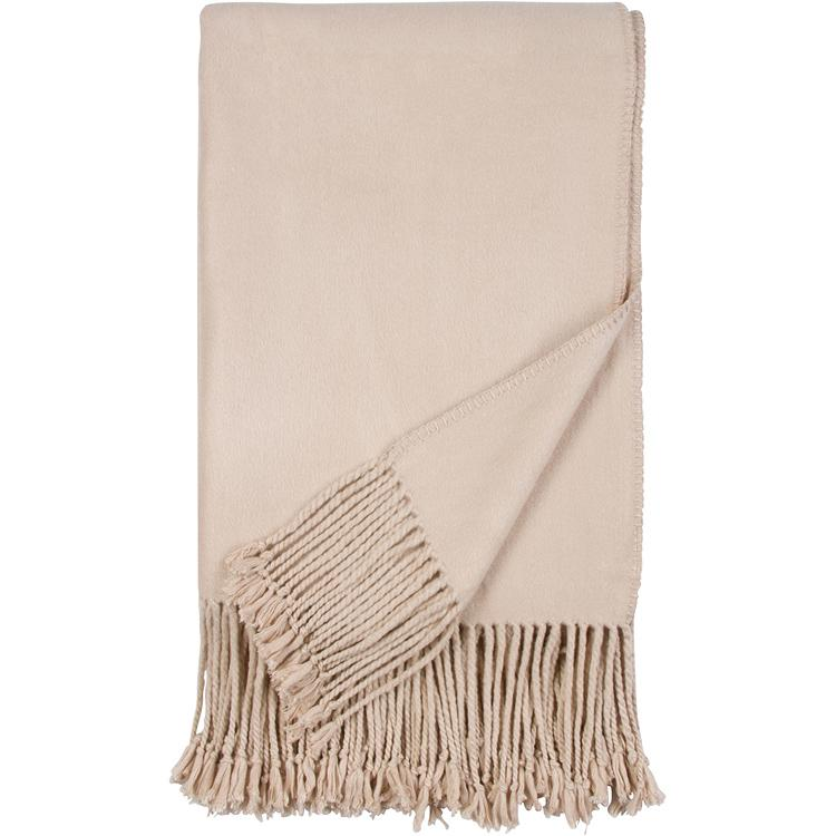 Luxxe Fringe Throw in Nude