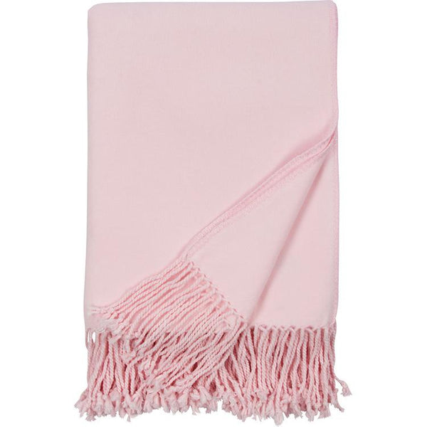 Luxxe Fringe Throw in Pink - Malibu Luxxe