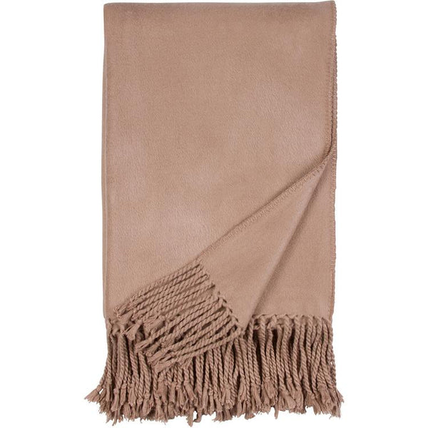 Luxxe Fringe Throw in Sand Malibu Luxxe