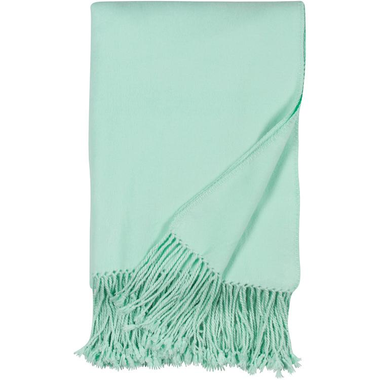 Luxxe Fringe Throw in Sea Foam Malibu Luxxe