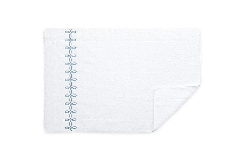 Matouk Gordian Knot Tub Mat in Hazy Blue | Fig Linens