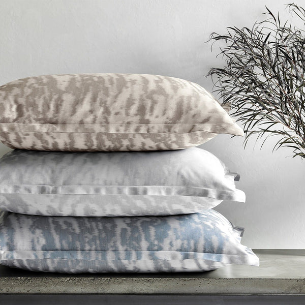 Serengeti Duvets & Shams by Matouk - Stack of Pillows | Schumacher Pattern