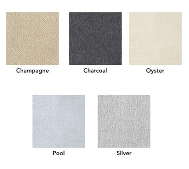 Dream Modal Throw Color Chart - 5 Color Swatches