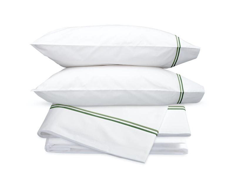 Essex Green Hotel Sheets - Matouk Cotton Percale Sheet Sets