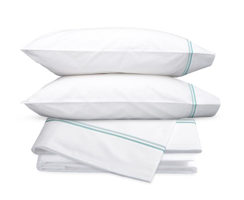Essex Lagoon Hotel Sheets - Matouk Cotton Percale Sheet Sets