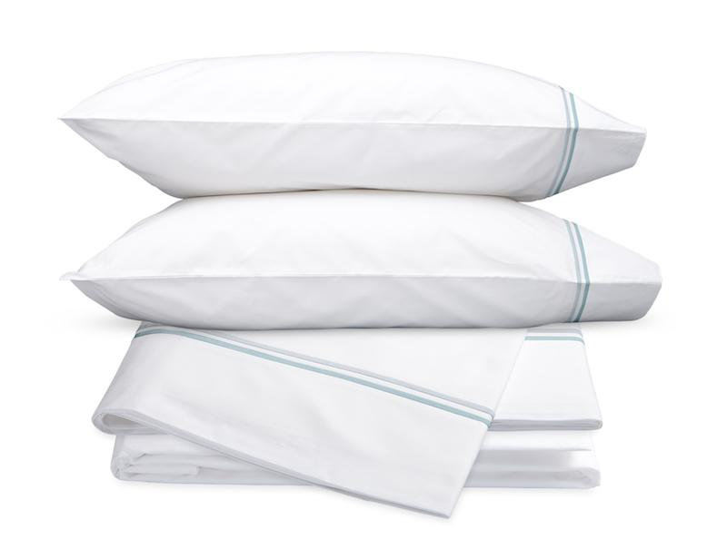 Essex Pool Hotel Sheets - Matouk Cotton Percale Sheet Sets