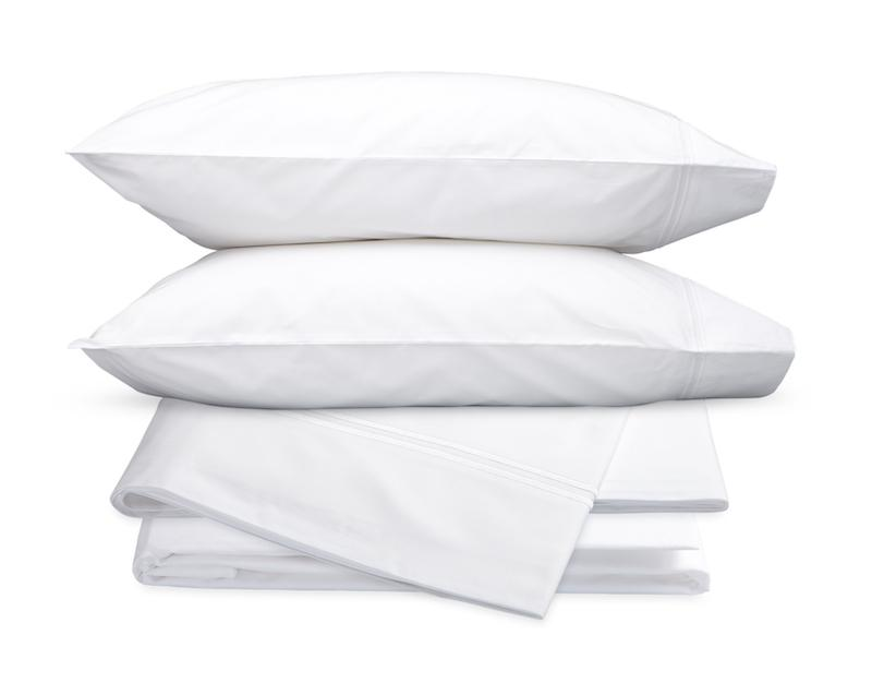 Essex White Hotel Sheets - Matouk Cotton Percale Sheet Sets