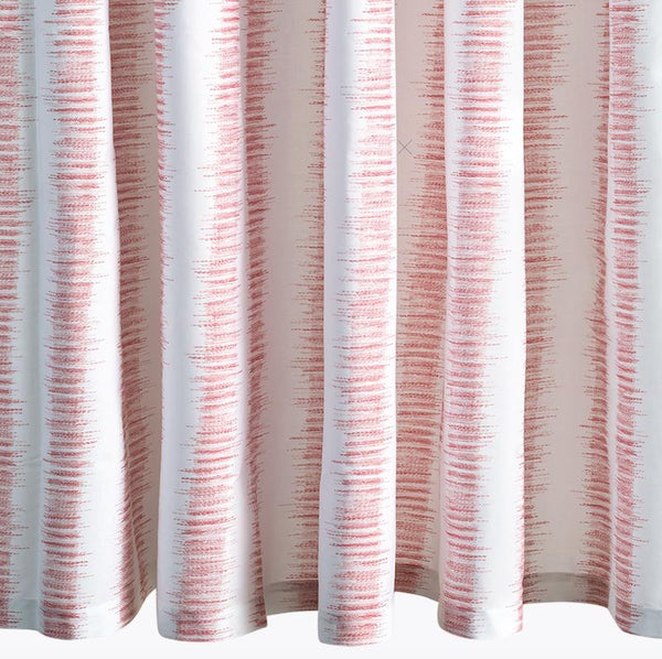 Attleboro Pink Coral Shower Curtain | Matouk Schumacher at Fig Linens