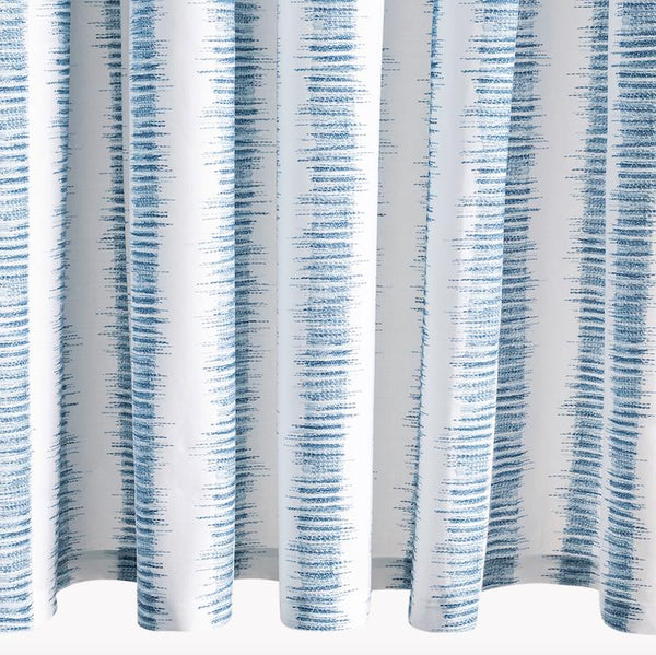 Attleboro Prussian Blue Shower Curtain | Matouk Schumacher at Fig Linens