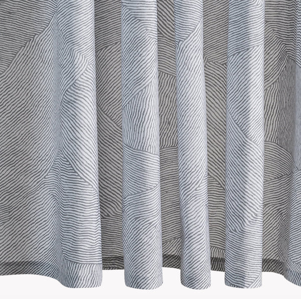 Burnett Nickel Shower Curtain | Matouk Schumacher at Fig Linens