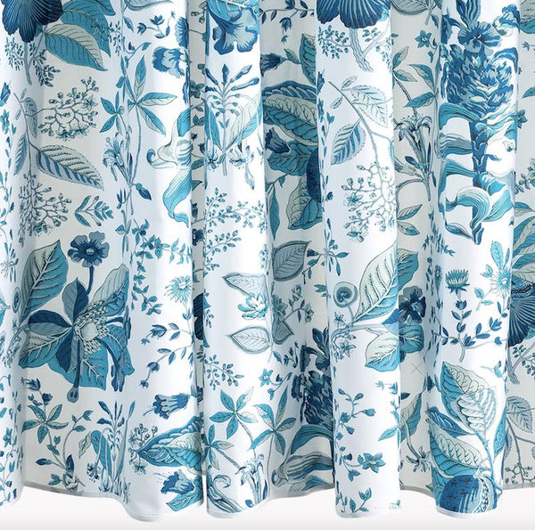 Pomegranate Prussian Blue Shower Curtain by Matouk Schumacher | Fig Linens