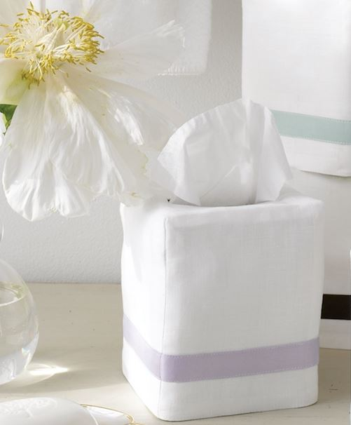 Fig Linens and Home - Lowell by Matouk - Linen tissue box covers