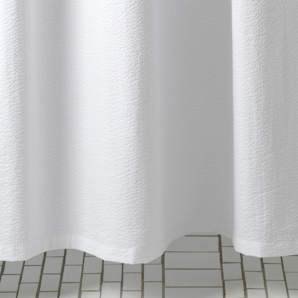 Matouk Seersucker White Shower Curtain | Fig Linens and Home