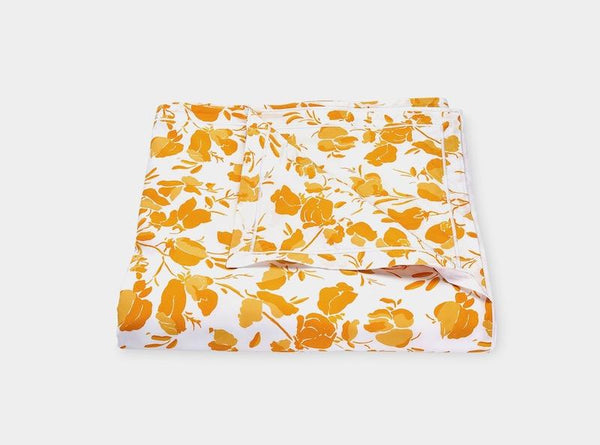 Matouk Alexandra Goldenrod Yellow Duvet Cover | Fig Linens