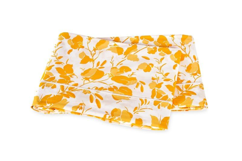 Alexandra Goldenrod Flat Sheet | Matouk Lulu DK at Fig Linens