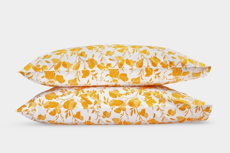 Alexandra Goldenrod Pillowcase Pair | Matouk Lulu DK at Fig Linens