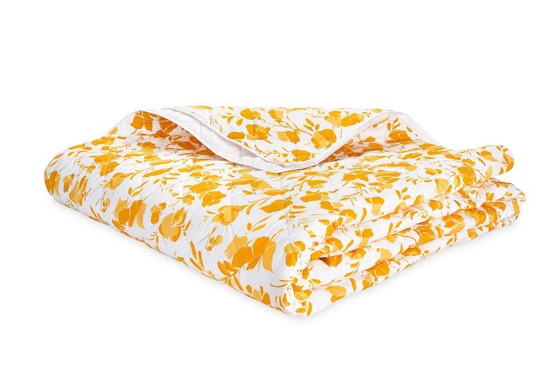 Alexandra Goldenrod Yellow Quilt | LULU DK Matouk at Fig Linens and Home