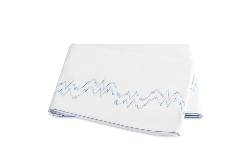 Aries Azure Flat Sheet | Matouk at Fig Linens